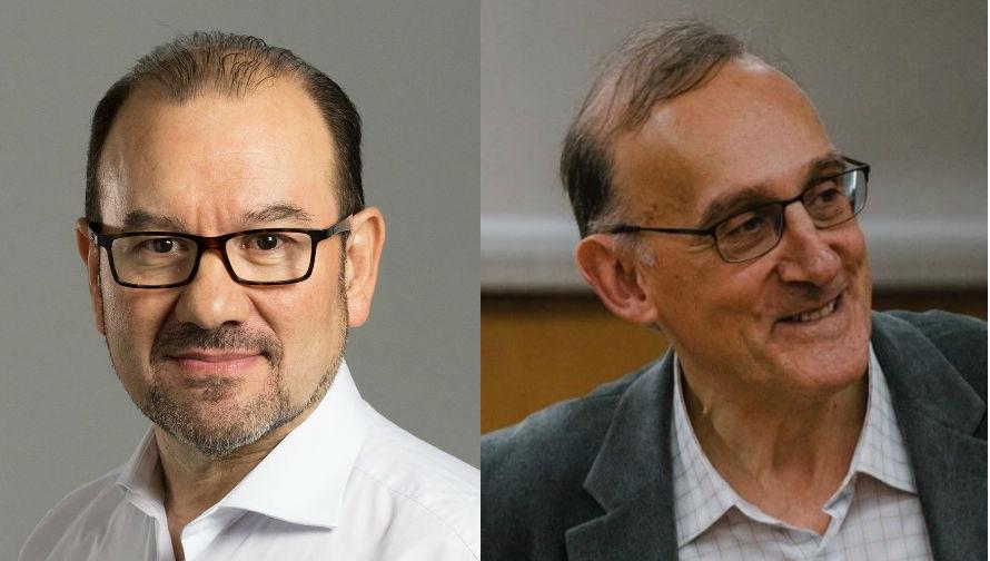 Antonio López e Manuel Reigosa, novos reitores da USC e a UVigo