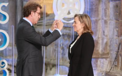María José Alonso recibe a Medalla Castelao
